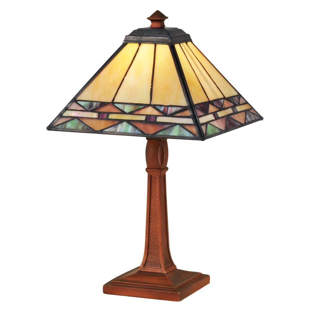 13.75 in. Slayter Antique Bronze Accent Lamp