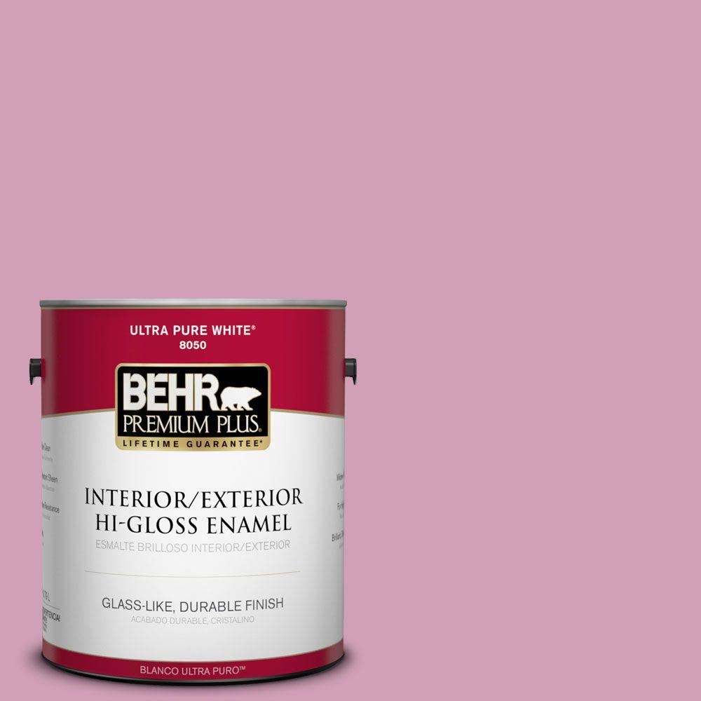 BEHR Premium Plus 1-gal. #M130-4 Raspberry Smoothie Hi-Gloss Enamel Interior/Exterior Paint