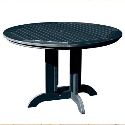 Federal Blue Round Plastic Outdoor Dining Table