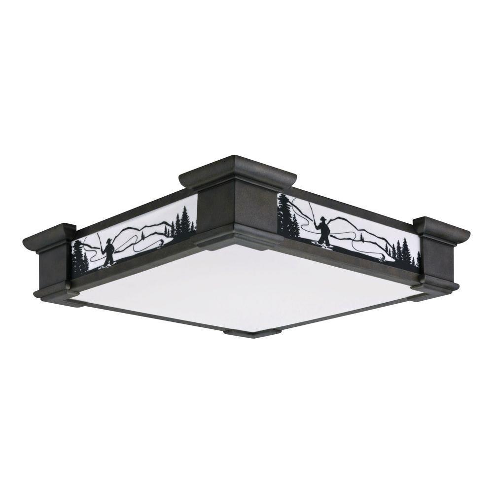 Sierra 1 Light White Fluorescent Ceiling Flushmount