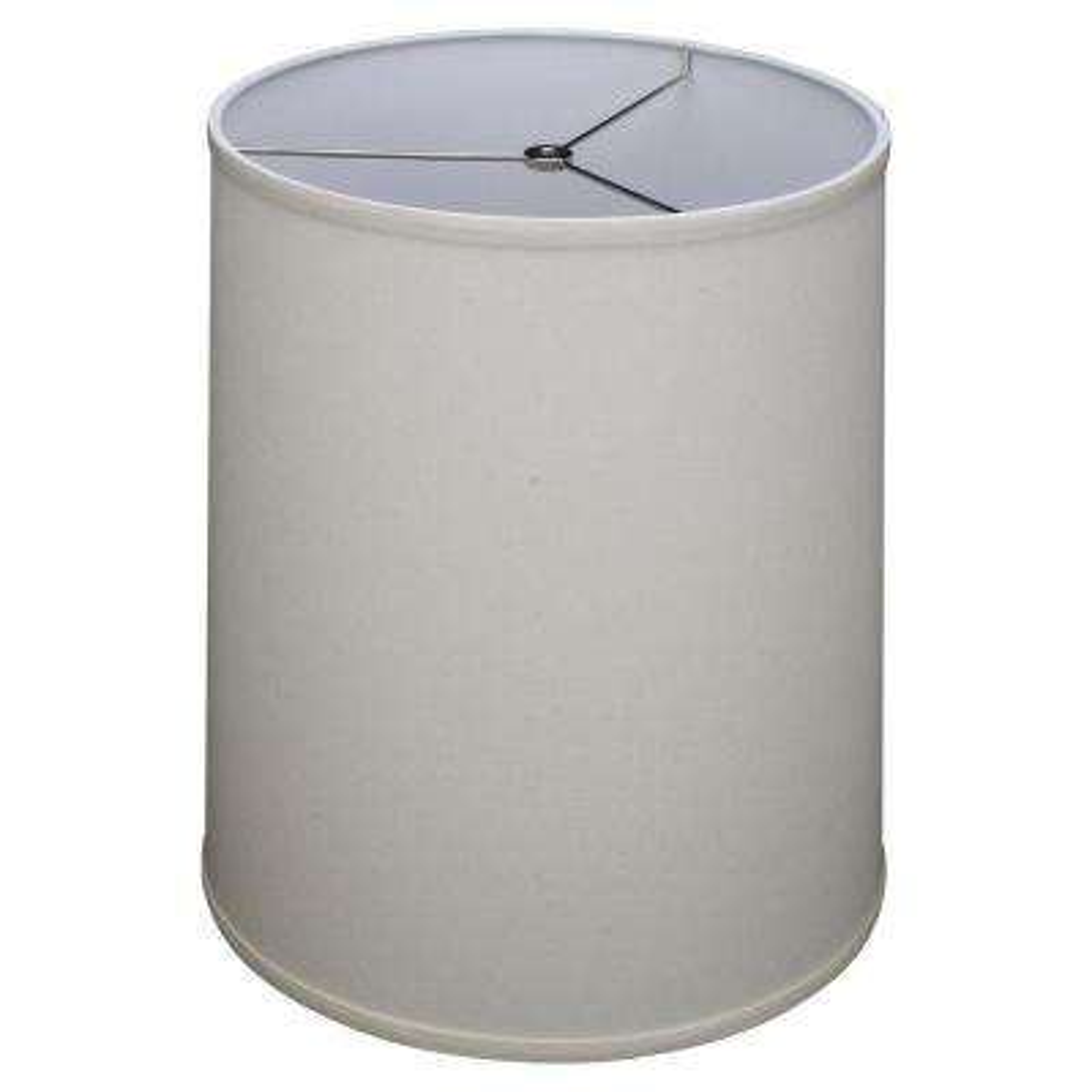 Fenchel Shades 13 in. Top Diameter x 15 in. Bottom Diameter x 17 in. Slant, Linen Homespun Beige Empire Lamp Shade