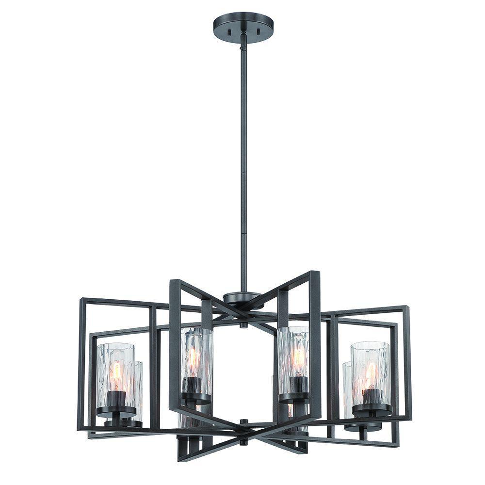 Designers Fountain Elements 8-Light Charcoal Interior Incandescent Chandelier