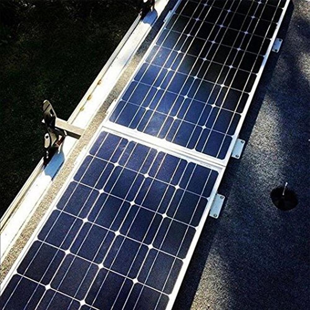 4Pcs Solar Panel Z-Bracket Mounting Kit for RVs,Boats,Cabins