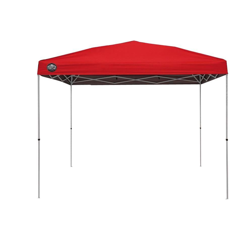 Shade Tech St100 10 Ft X Instant Patio Canopy In Khaki 157467 The Home Depot