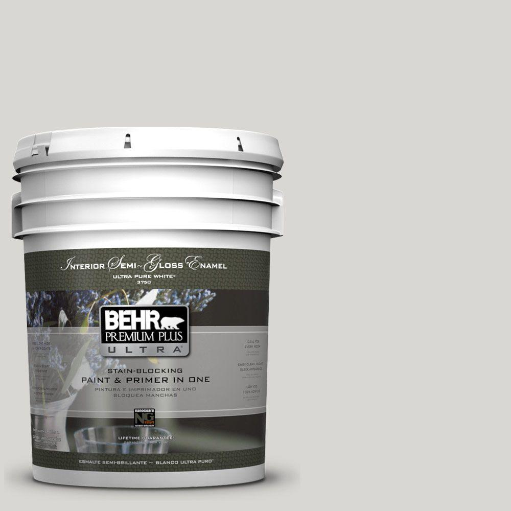 5-gal. #ICC-23 Silver Tradition Semi-Gloss Enamel Interior Paint