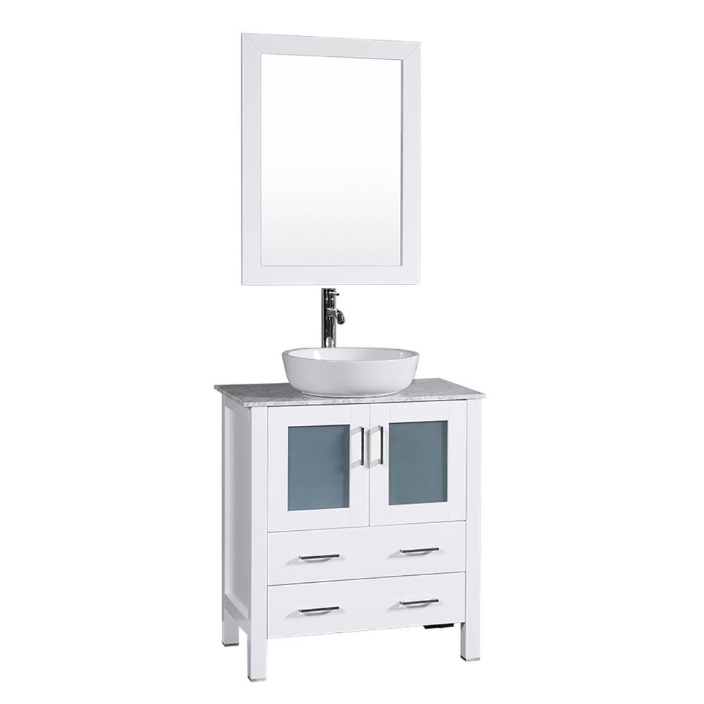 50-58 in. - White - Vanities with Tops - Bathroom Vanities - The ...