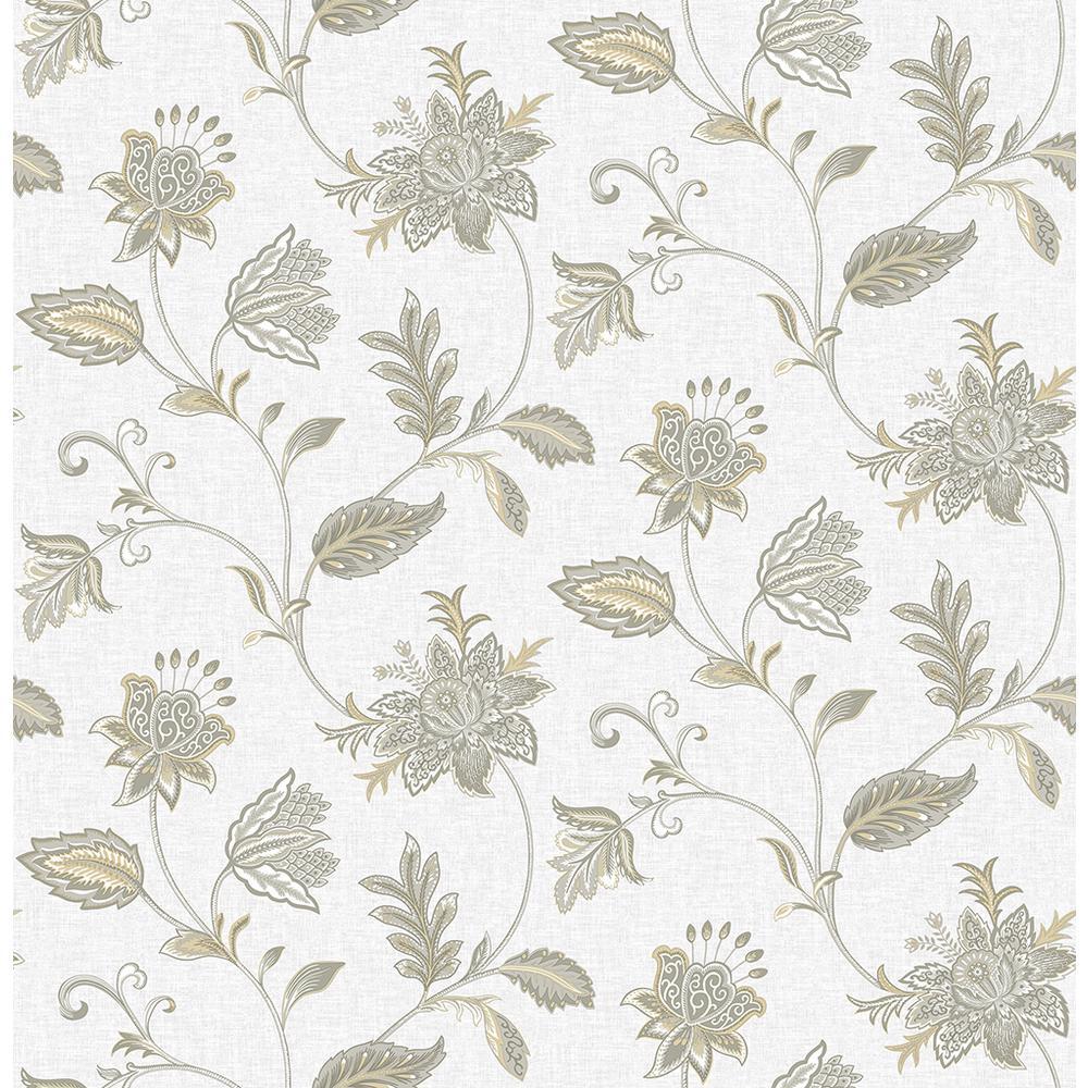 A Street Georgette Haze Jacobean Wallpaper Sample