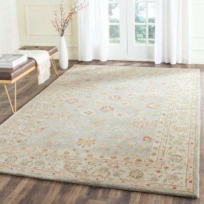 Antiquity Grey Blue/Beige 9 ft. x 12 ft. Area Rug