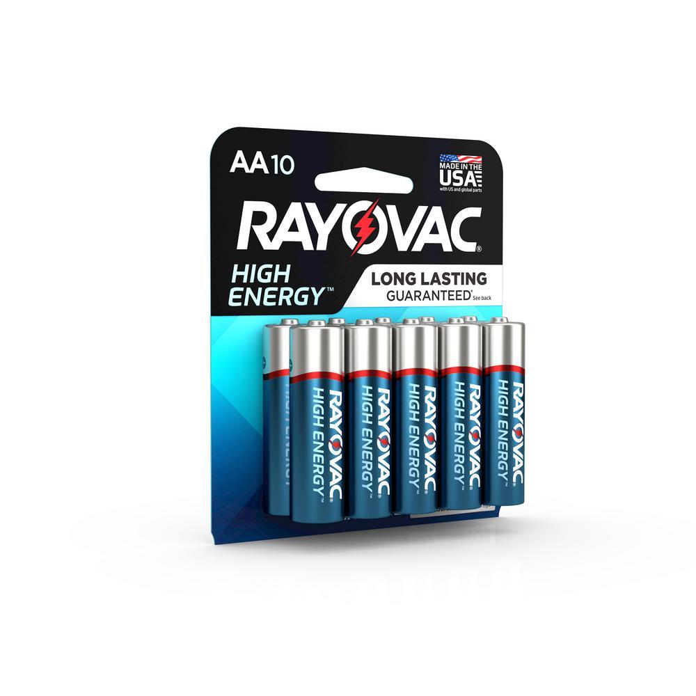 High Energy Alkaline AA/1.5 Volt Battery (10-Pack)