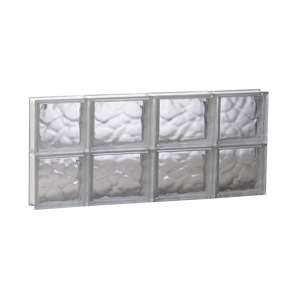 Clearly secure 27 in x 11 5 in x in wave pattern for Pre assembled glass block windows