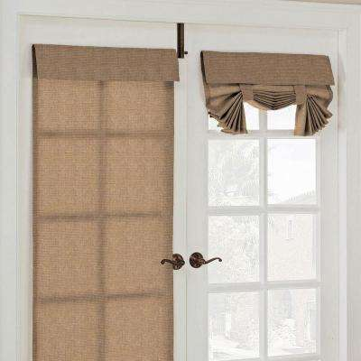 26 in. W x 68 in. L Key Largo Polyester French Door Window Panel in Caramel
