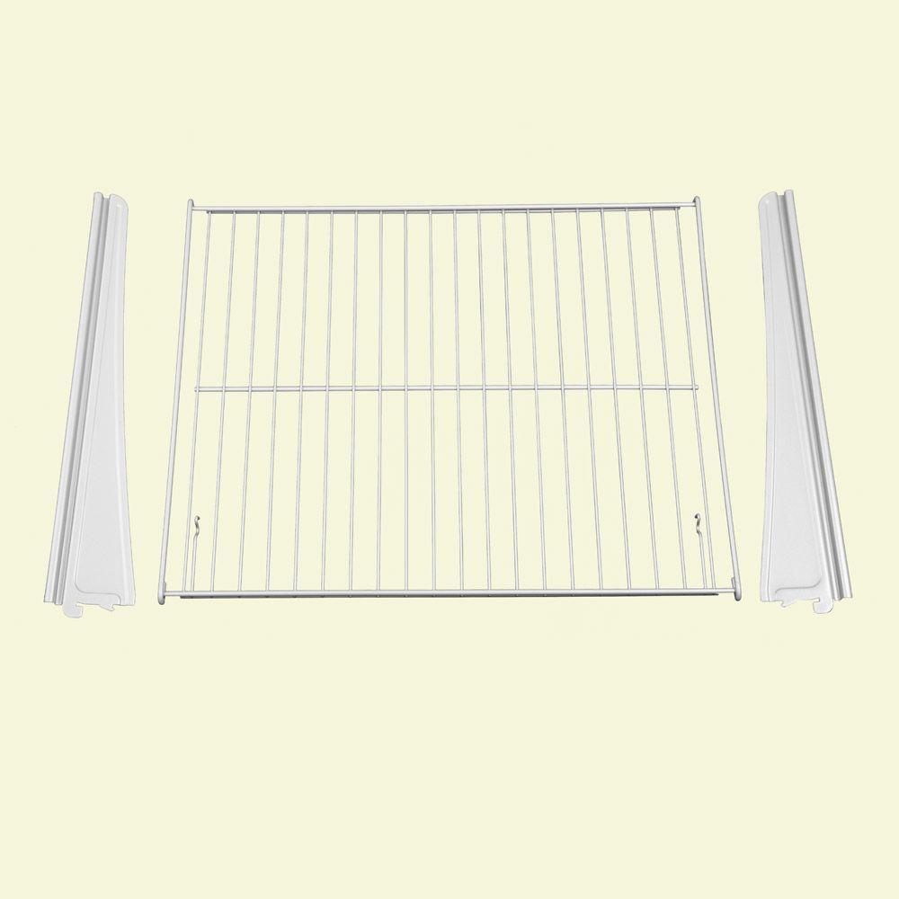 21 in. W x 17 in. D ShelfTrack Drawer Frame Hardware Kit in White (3-Piece)