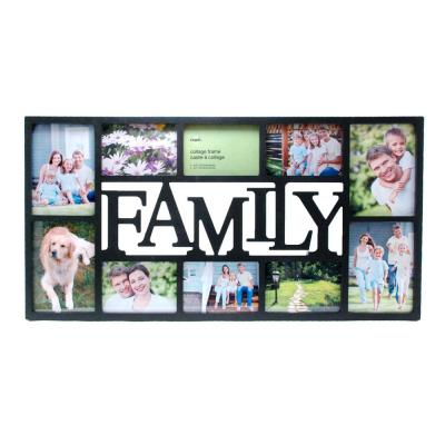 """kieragrace KG Family 10 Openings Collage Frame -  14.5"""" by 28.5"""", Fits 4 - 5"""" x 7"""" and 6 - 4"""" x 6"""" Photos, Black"""