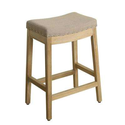 Blake Backless 24 in. Natural Bar Stool