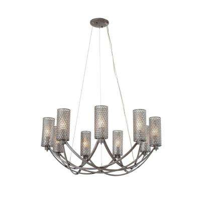 Casablanca 9-Light Steel Chandelier with Recycled Steel Mesh