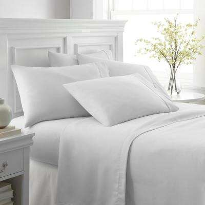 Performance White Queen 6-Piece Bed Sheet Set