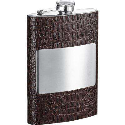 Thomas Handcrafted Dark Brown Leather Liquor Flask