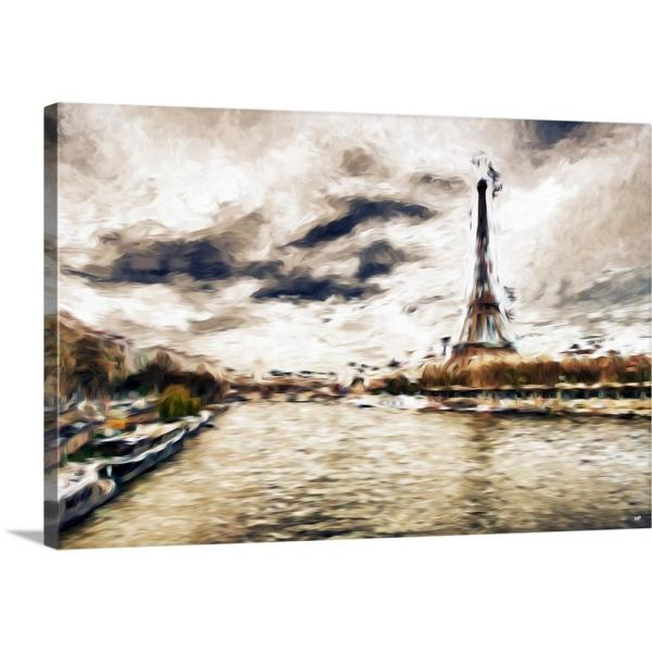 Late Afternoon In Paris Oil Painting Series By Philippe Hugonnard Canvas Wall Art