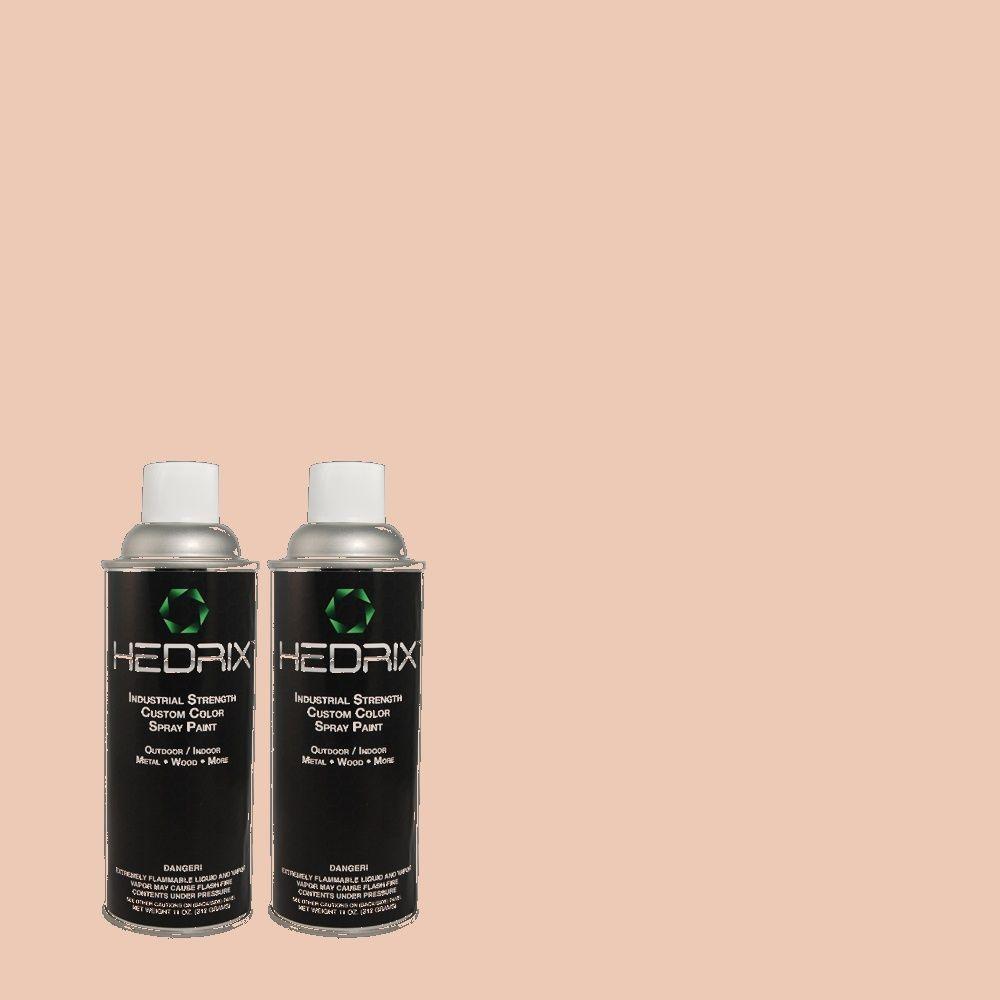 Hedrix 11 oz. Match of RAH-47 Pink Blush Semi-Gloss Custom Spray Paint (2-Pack)
