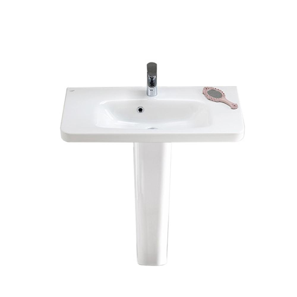 Nameeks Noura Pedestal Sink In White