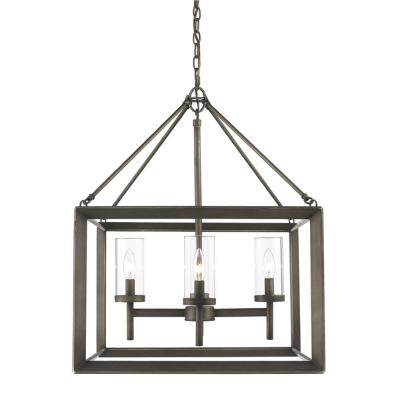 Smyth Collection 4-Light Gunmetal Bronze Chandelier