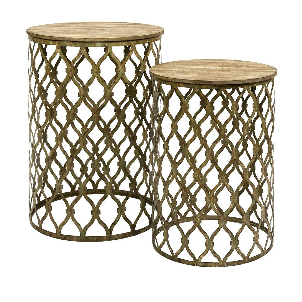 Filament Design Lenor Bronze 2 Piece Nesting End Table