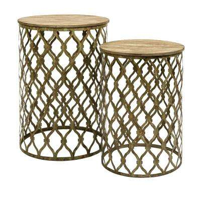 Lenor Bronze 2-Piece Nesting End Table