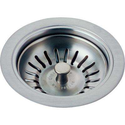 4-1/2 in. Kitchen Sink Flange and Strainer in Arctic Stainless