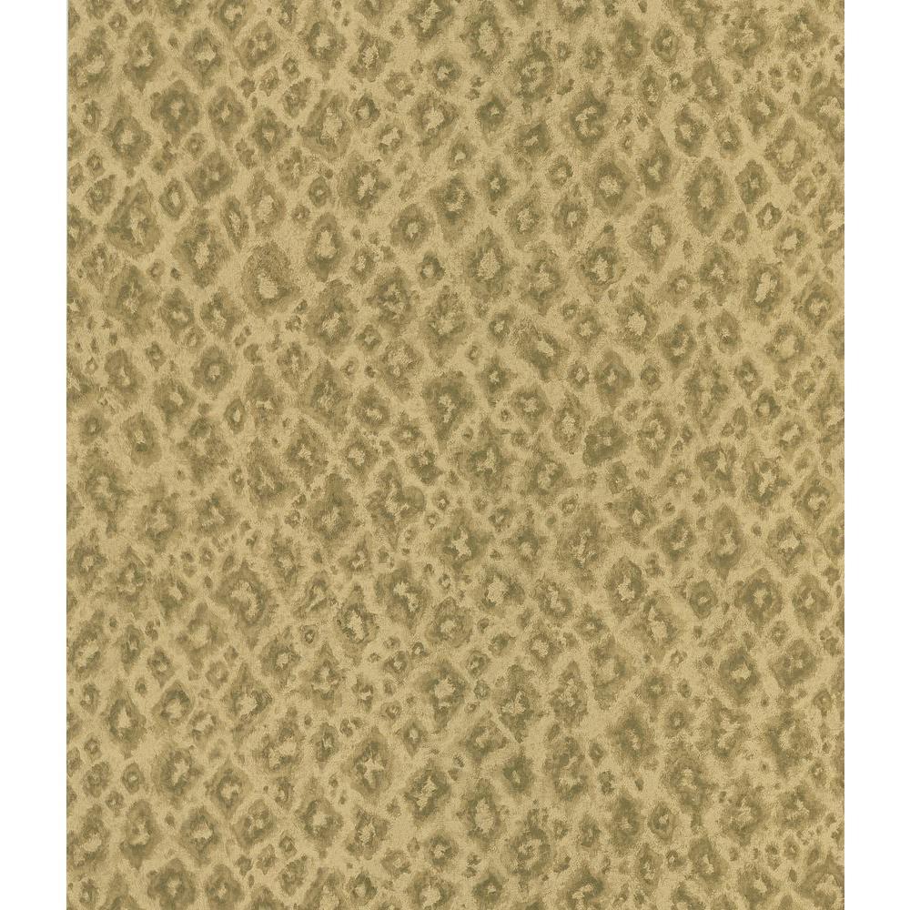 Beige Jaguar Print Wallpaper Sample