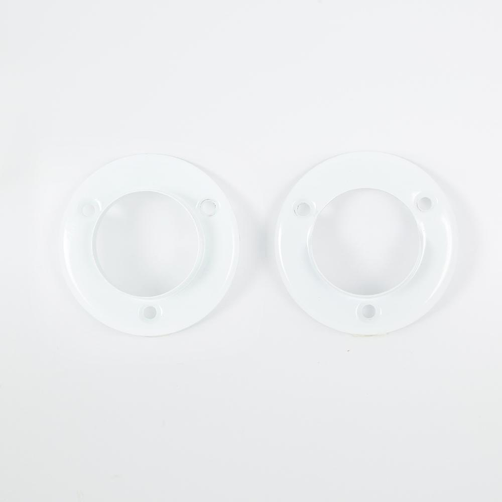 1-3/8 in. White Metal Closet Pole Sockets (2-Pack)