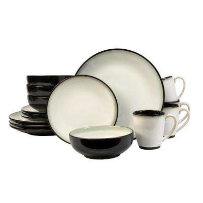 Nova Black 16-Piece Dinnerware Set
