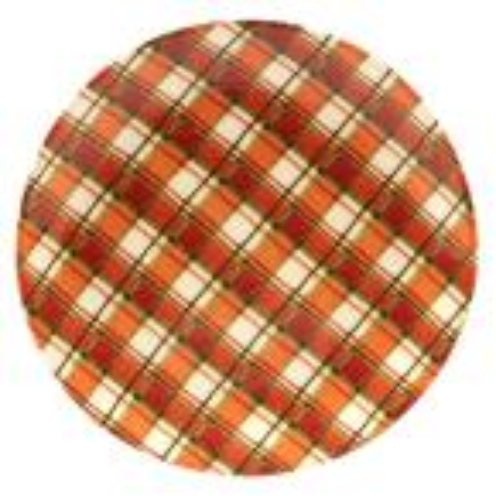 Certified International Autumn Fields by Susan Winget Plaid 13 in. Round Platter