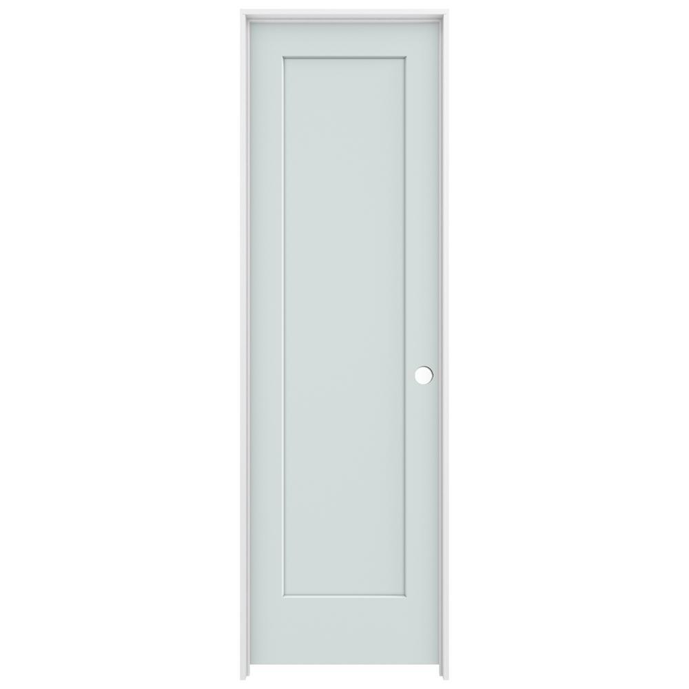Jeld wen 24 in x 80 in madison light gray left hand for 14 x 80 interior door