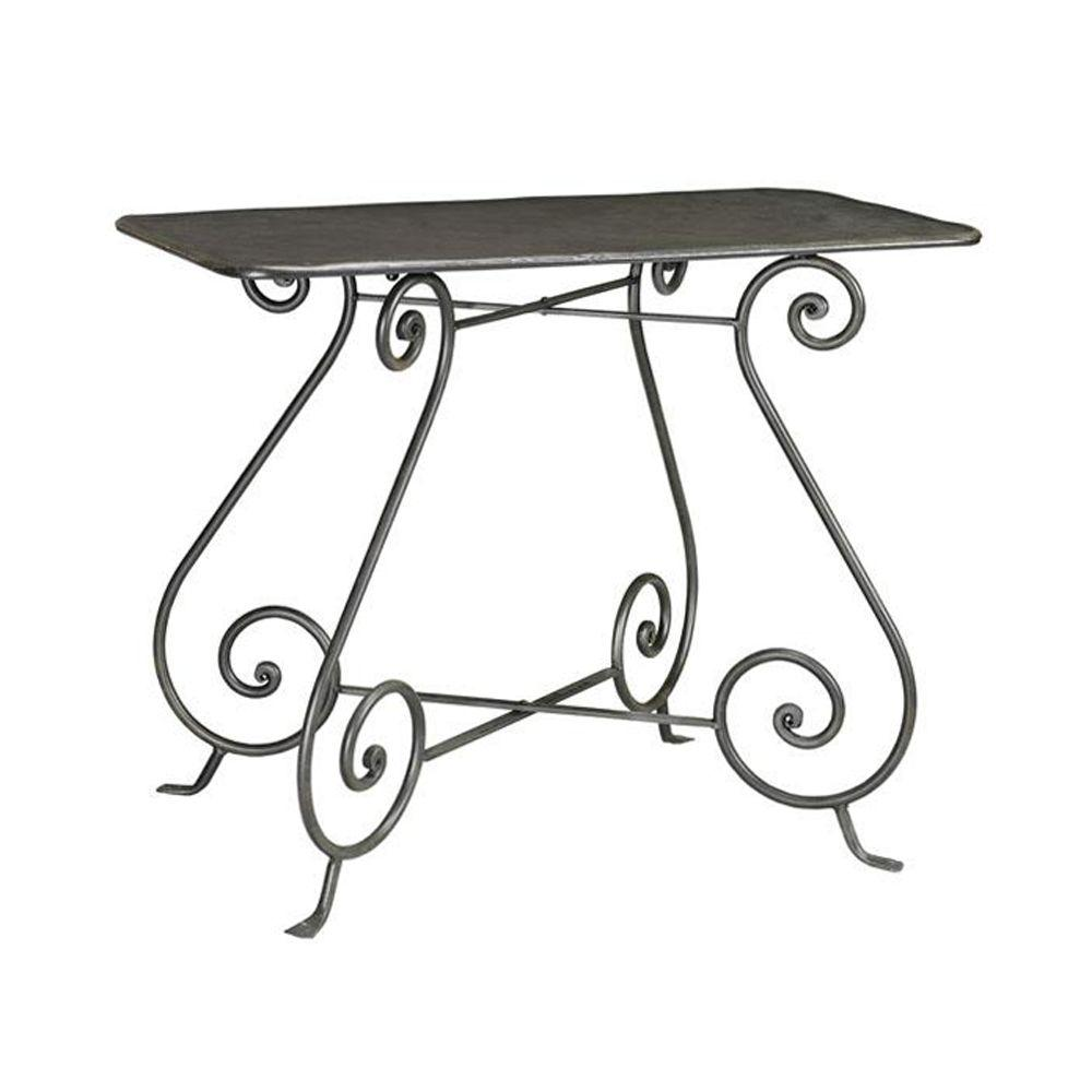 Home Decorators Collection 39 in. W Gramercy Black and Painted Console Table