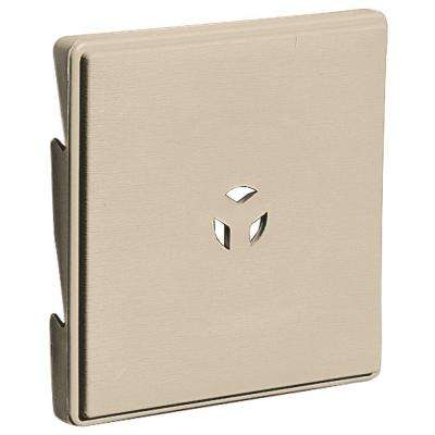 6.625 in. x 6.625 in. # 049 Almond Triple 3 Surface Universal Mounting Block