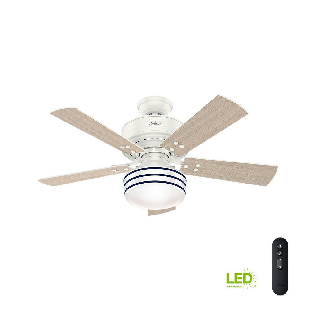 Hunter Cedar Key 44 in. Indoor/Outdoor Matte Black Ceiling Fan with