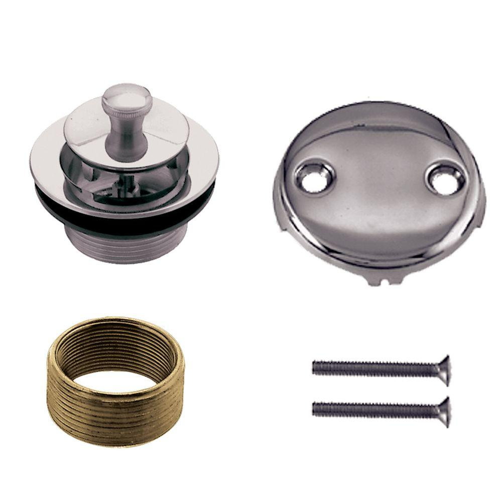 Universal Twist and Close Tub Waste Trim Kit in Polished Chrome