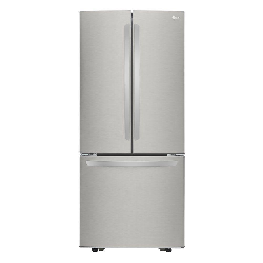 LG 21.8 cu. ft. French Door Refrigerator in Stainless Ste...