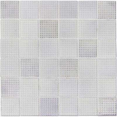 Keijo Shiro White 11.56 in. x 11.56 in. x 6.35mm Glazed Porcelain Mosaic Tile (9.28 sq. ft. / case)