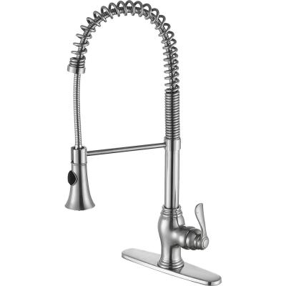 Bastion Single Handle Standard Kitchen Faucet in Brushed Nickel