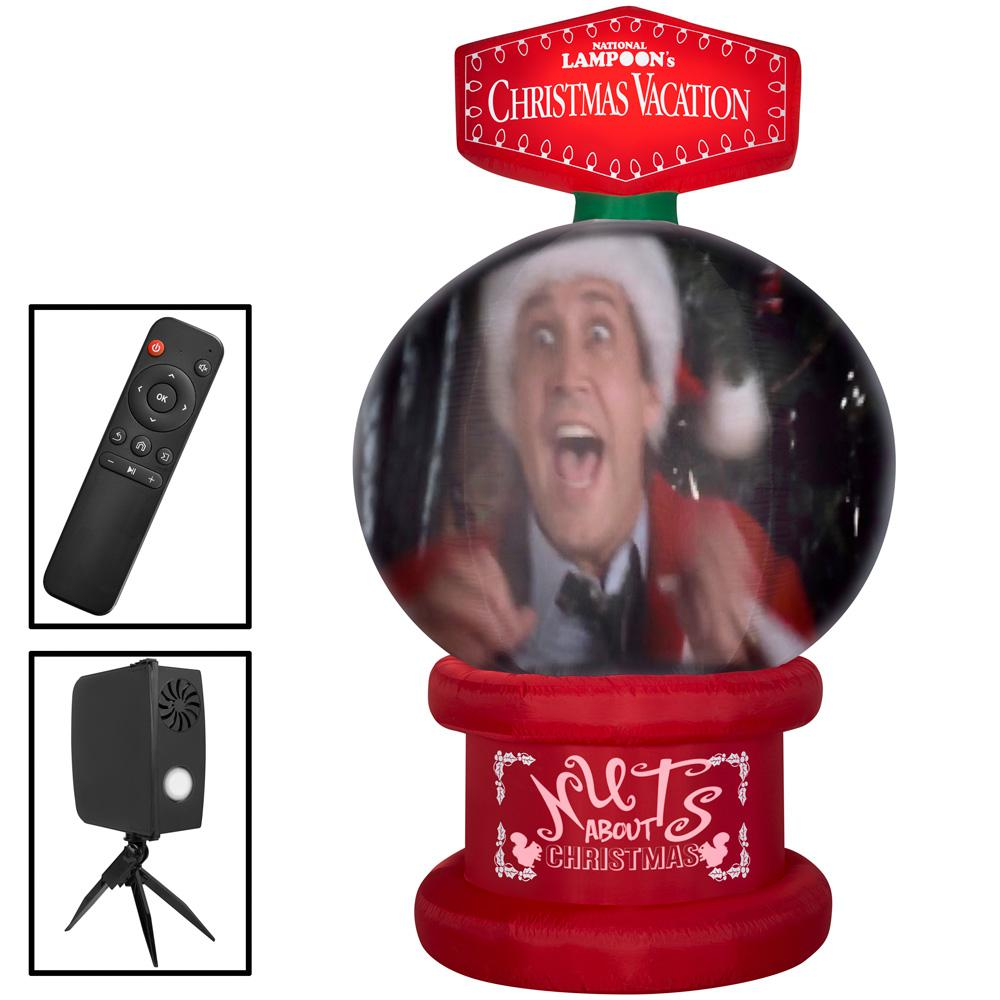 unbranded 8 ft. Living Projection Pre-lit Inflatable NLCV Snow Globe Airblown Scene-WB