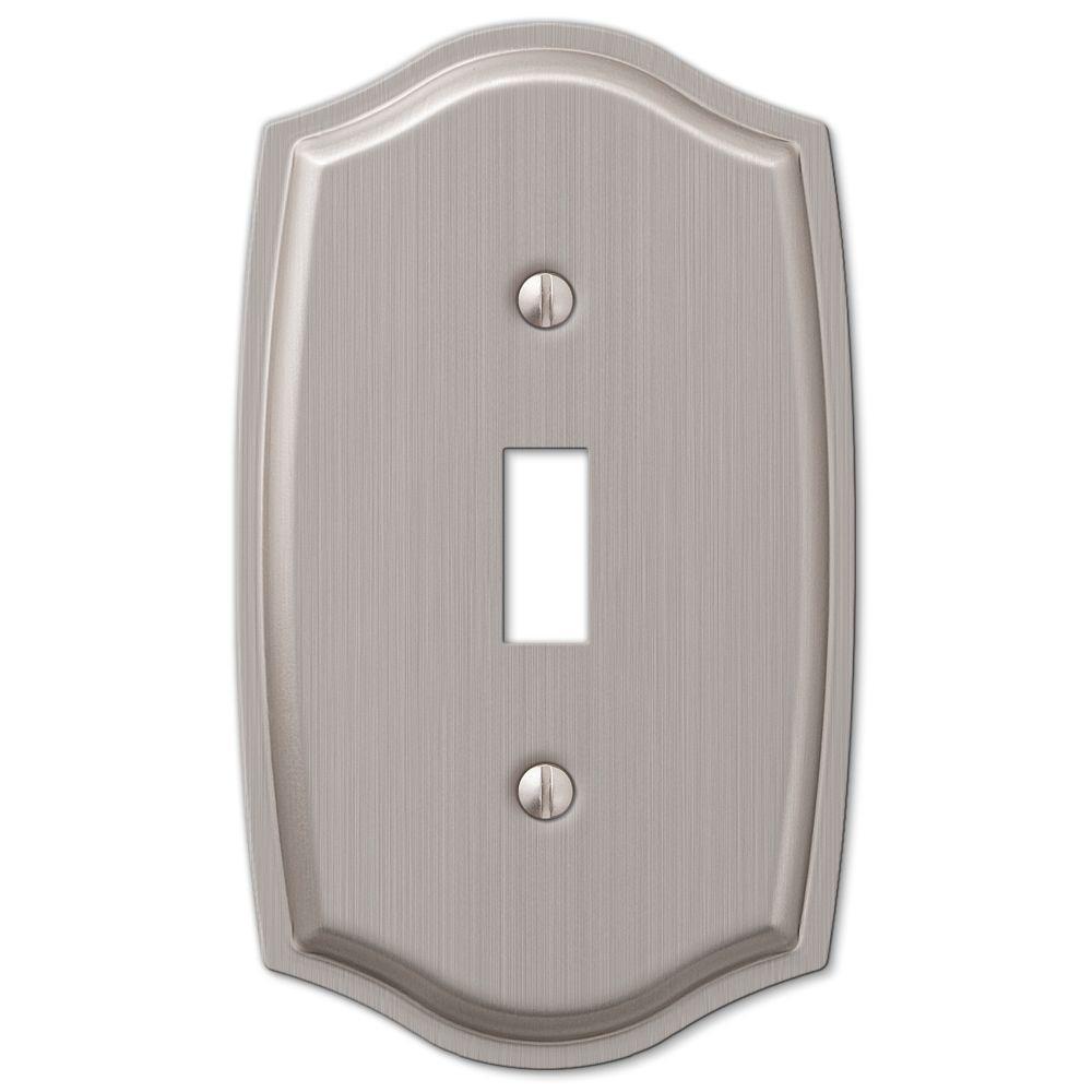 Vineyard 1 Toggle Wall Plate - Brushed Nickel Steel