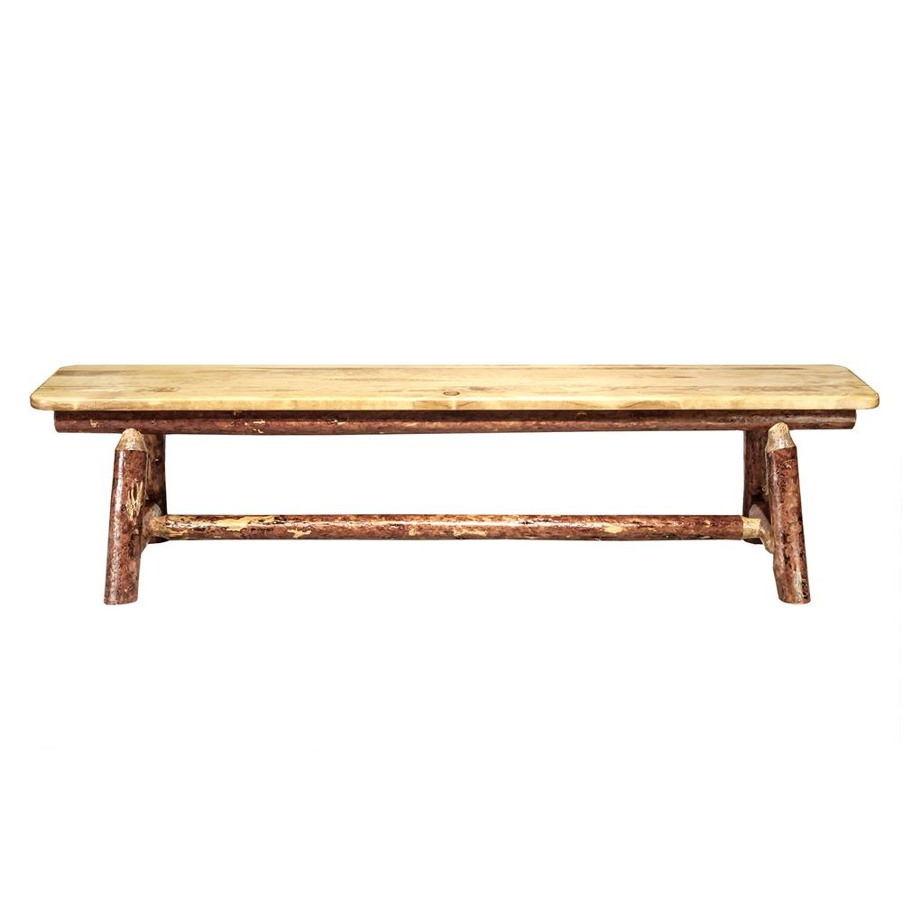 Montana Woodworks Glacier Country Puritan Pine Bench