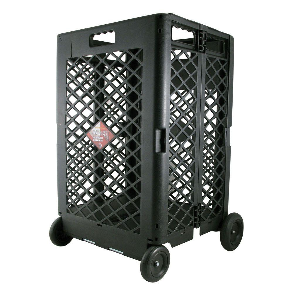 OLYMPIA Pack-N-Roll 11-23/32 in. Mesh Rolling Cart
