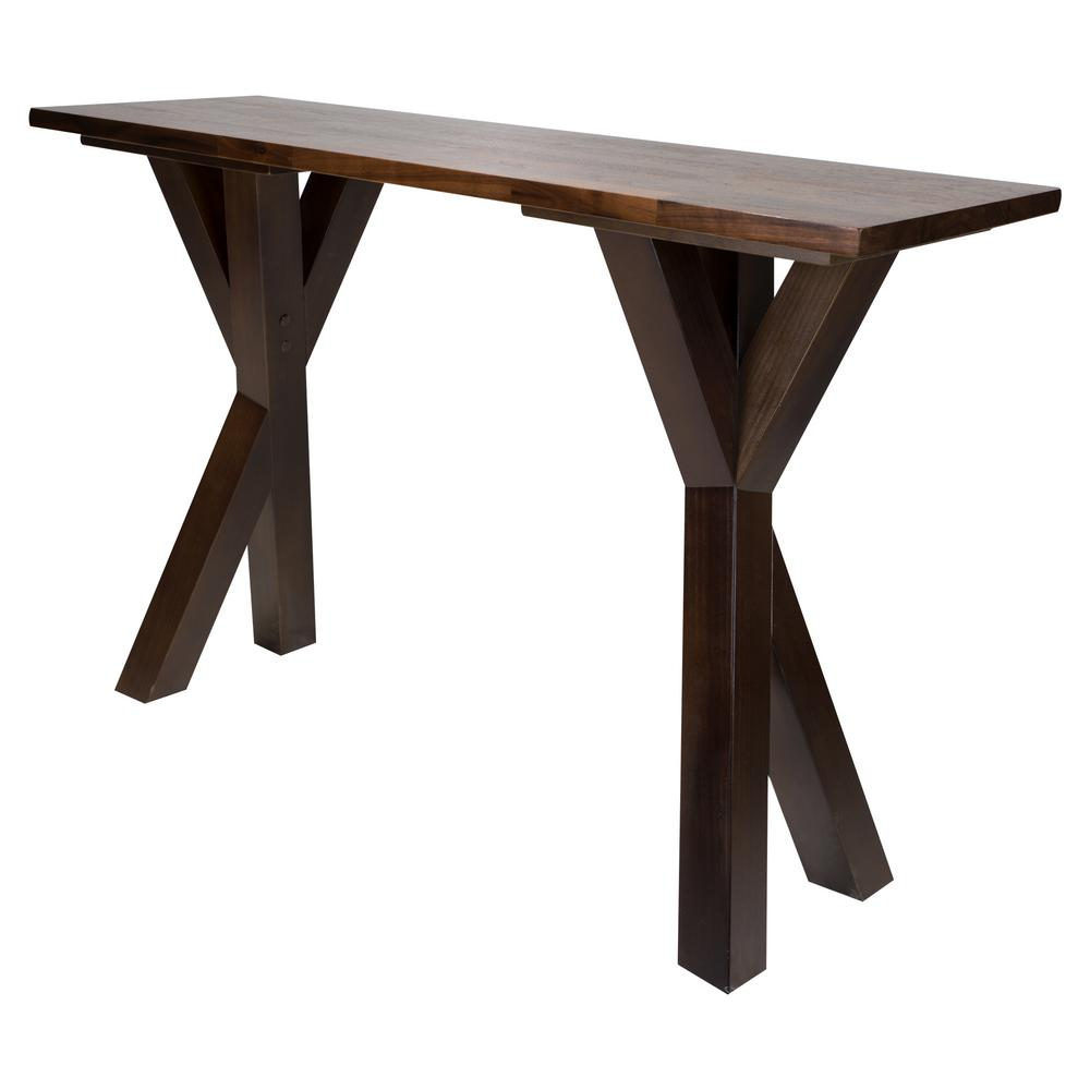 Merveilleux American Trails Ridgefield Natural 1 In. Thick Solid Walnut Wood Top Console  Table