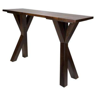 Ridgefield Natural 1 in. Thick Solid Walnut Wood Top Console Table