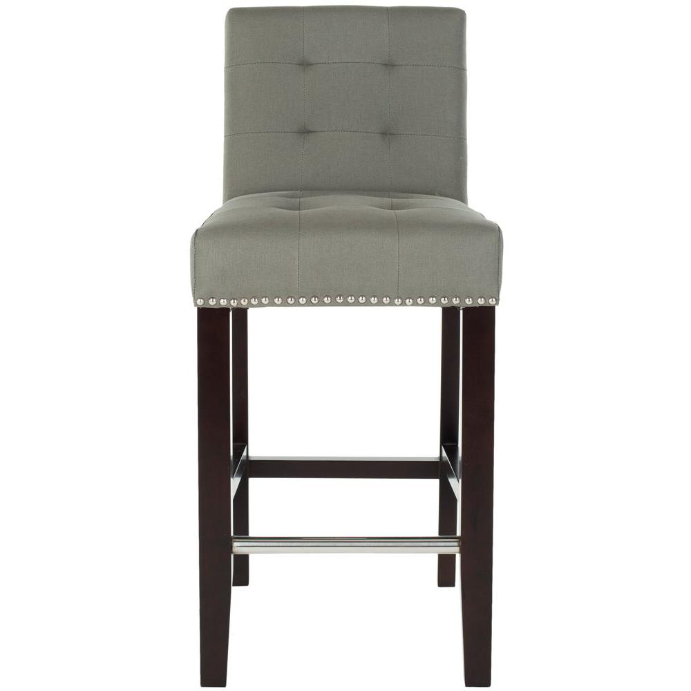 Safavieh Thompson 25.8 in. Sea Mist Cushioned Bar Stool