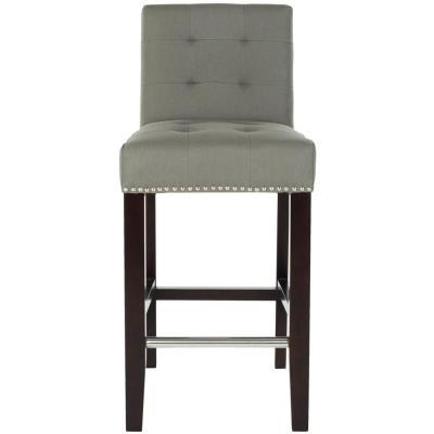 Thompson 25.8 in. Sea Mist Cushioned Bar Stool