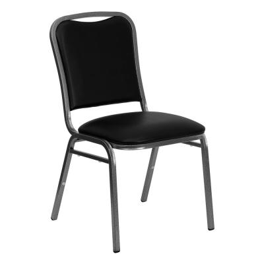 Black Vinyl Banquet Chair