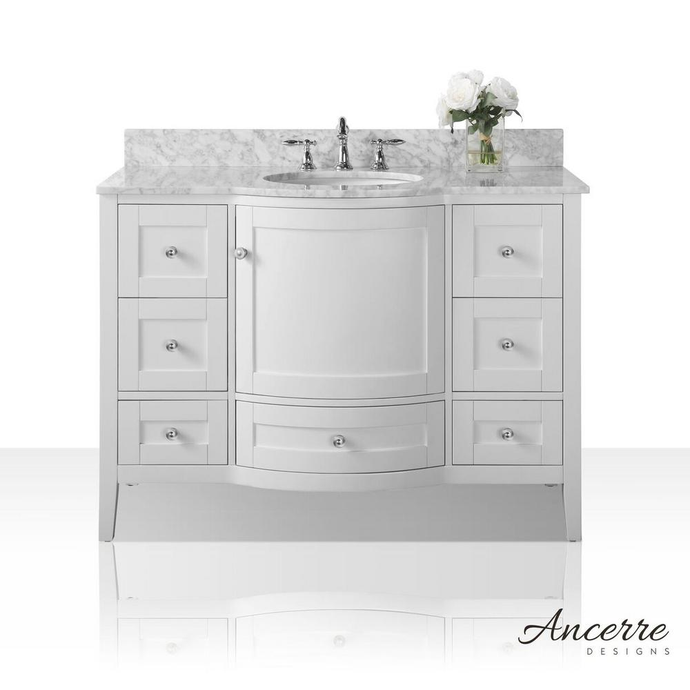 Lauren 48 in. W x 22 in. D Vanity in White